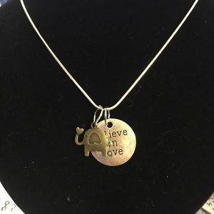 Believe in love necklace